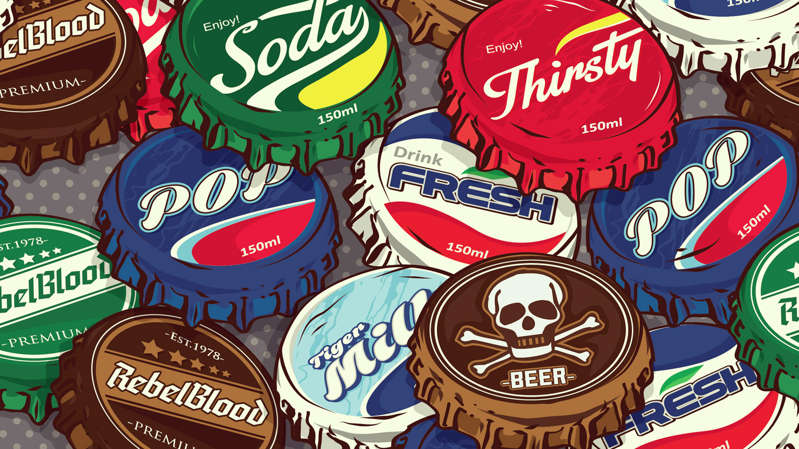 retro comebacks bottle cap brands