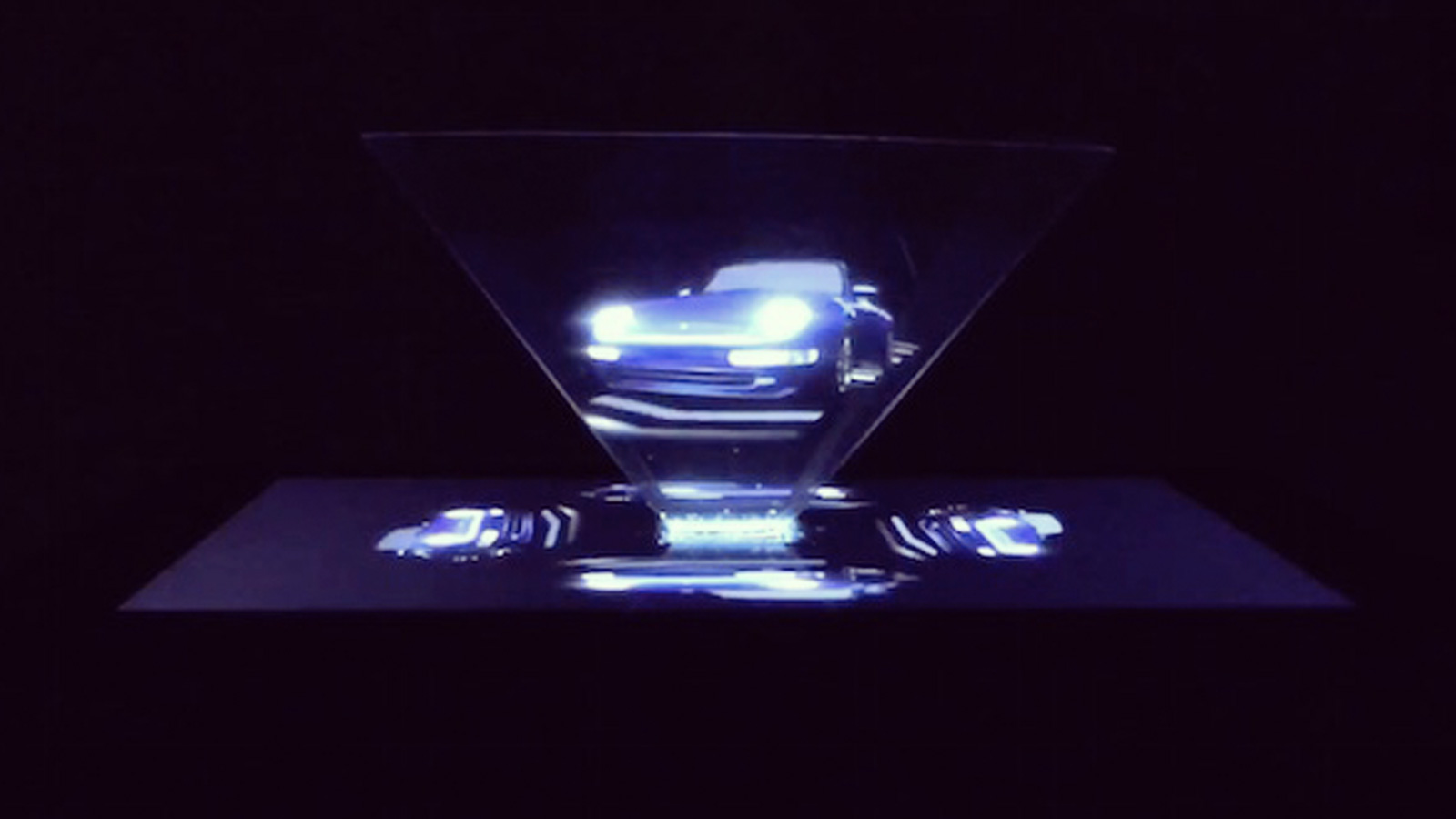 hologram print ad car