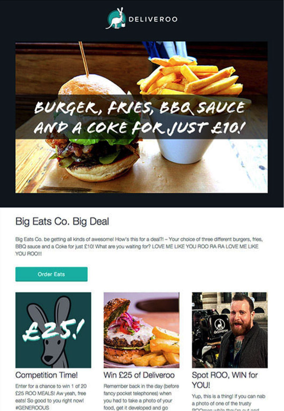 Deliveroo screenshot