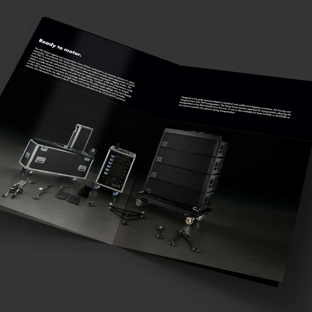 d&b audiotechnik SL-series brochure spread